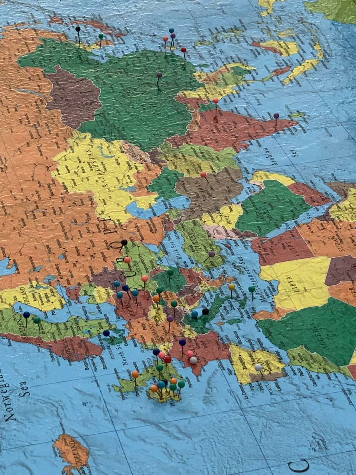 New this year, the Diversity, Equity and Inclusion PTO committee challenged students to think about where their ancestors were from and appreciate the diversity represented within our own student body population. More than 40 countries were represented.