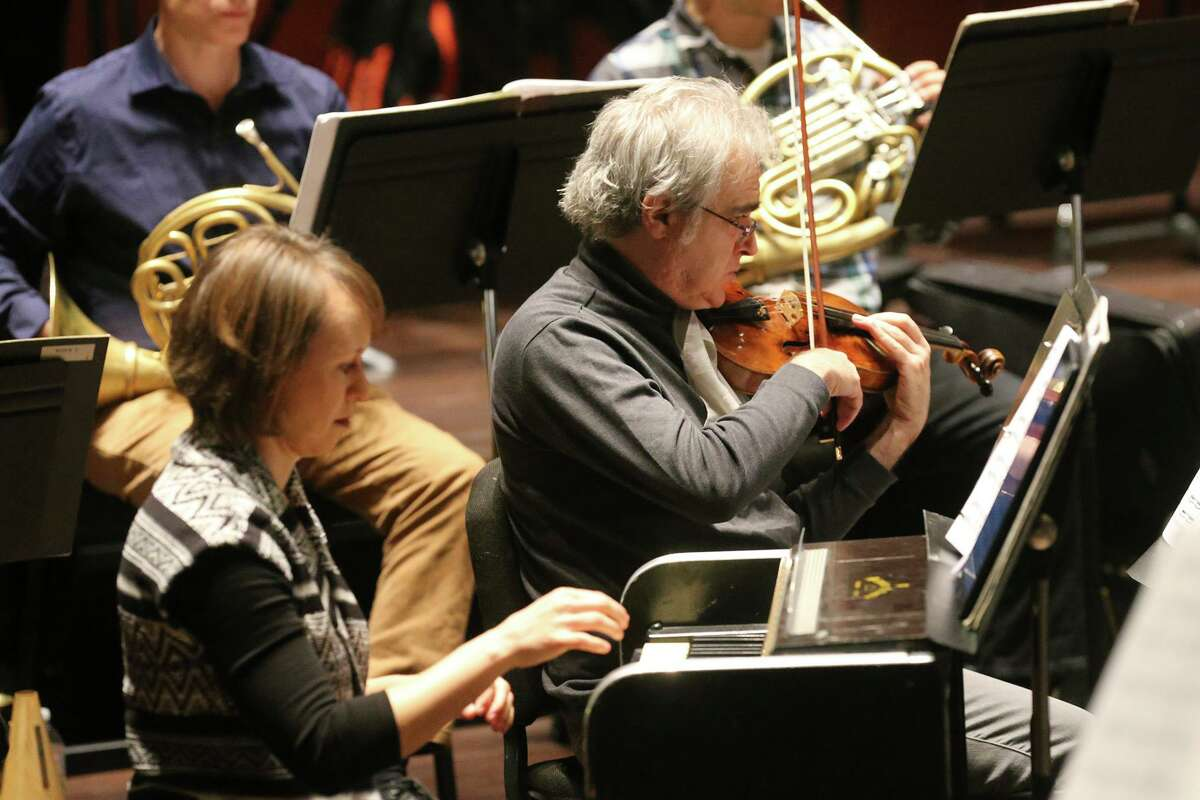 The San Antonio Symphony rehearses in 2018. As a contract dispute continues, the Symphony Society of San Antonio has said cuts are needed to sustain the city long-term.