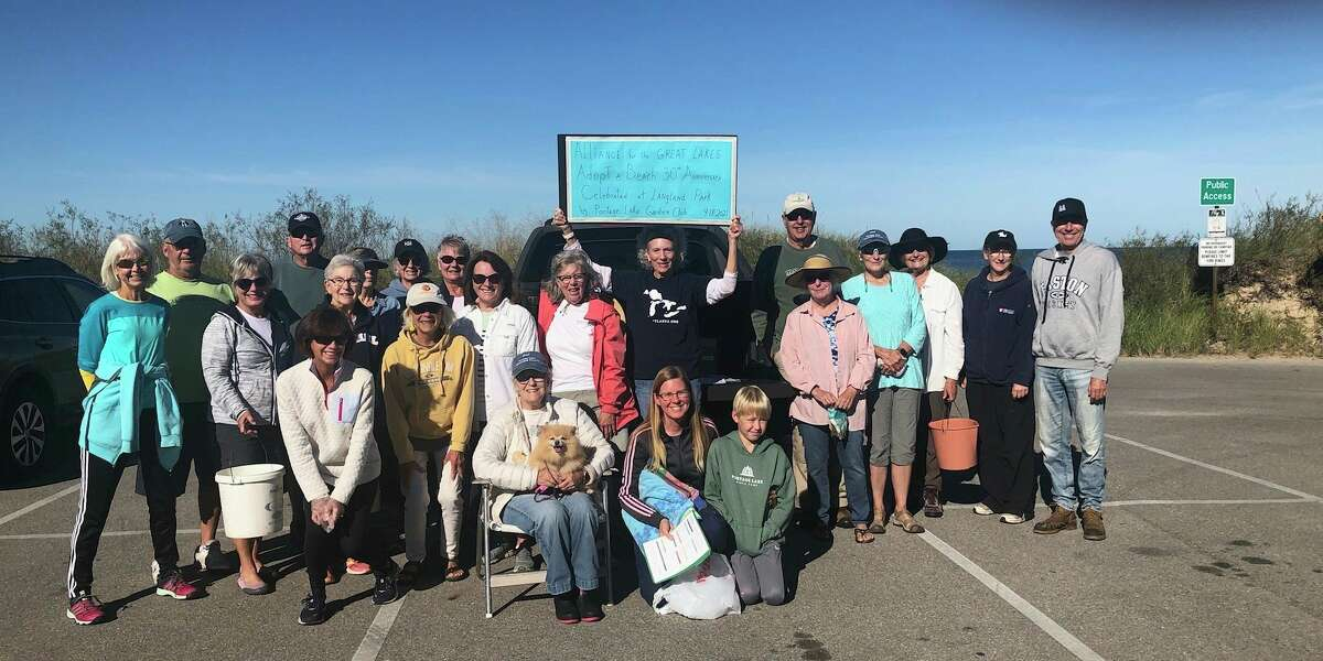 This is the 12th year that the Portage Lake Garden Clubhas participated in the Alliance for the Great Lakes' Adopt-a-Beach day. It is the 30th year the Alliance has sponsored Adopt-a-Beach day. (Courtesy photo)