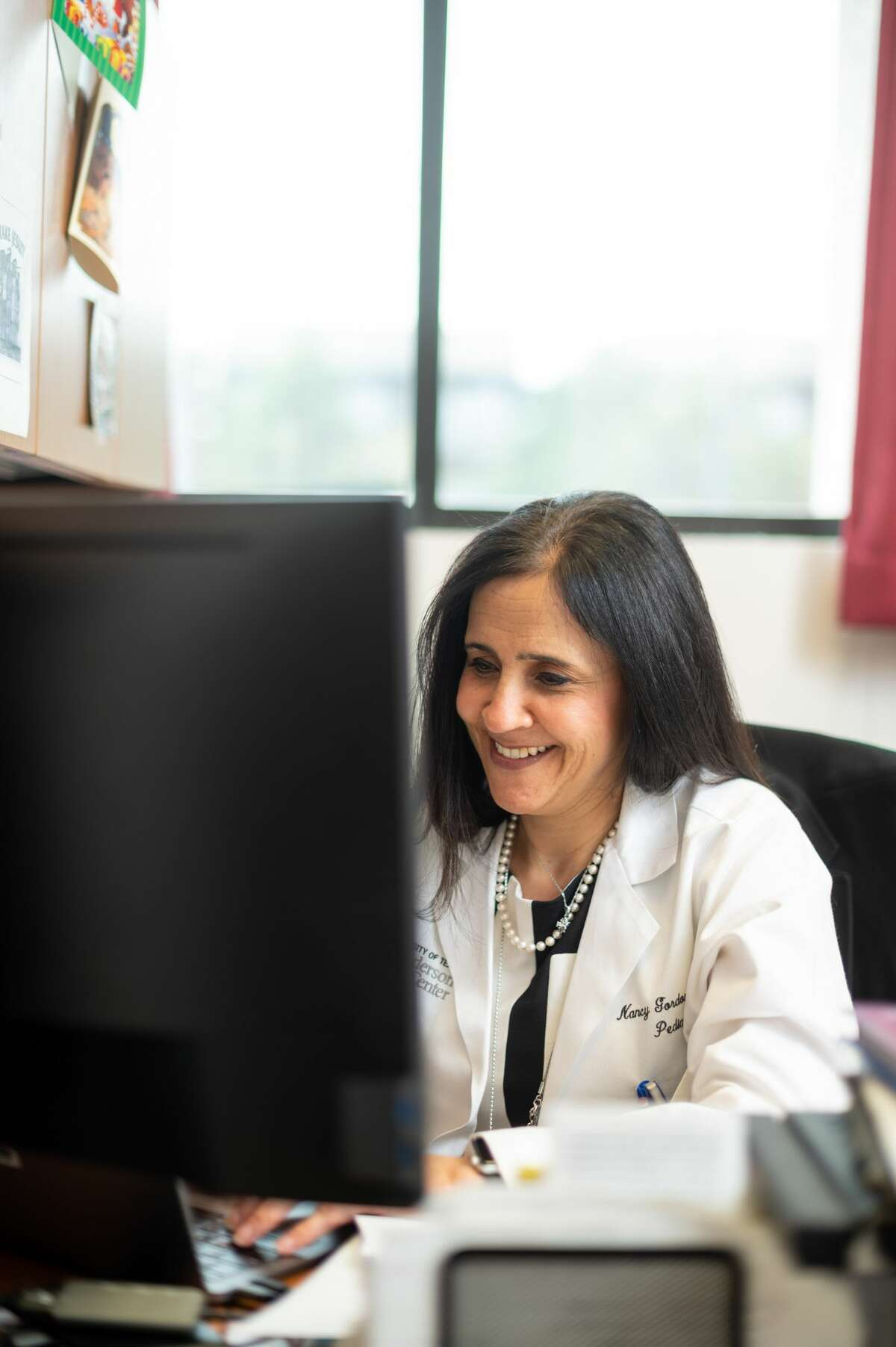 Dr. Nancy Gordon, an associate professor of pediatrics at MD Anderson, received a $50,000 grant to study drugs on osteosarcoma.