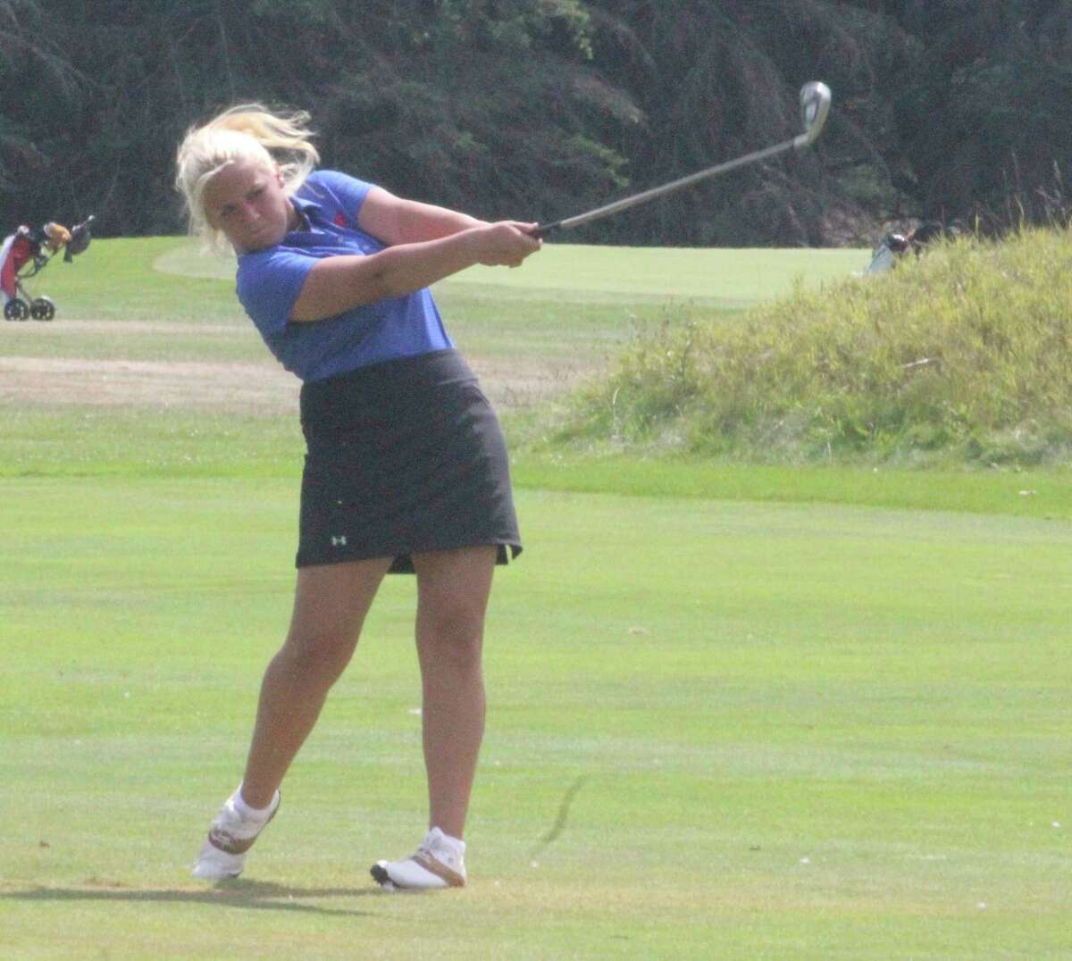 Kiali Stout is a first-team all-CSAA golfer for Big Rapids. (Pioneer file photo)