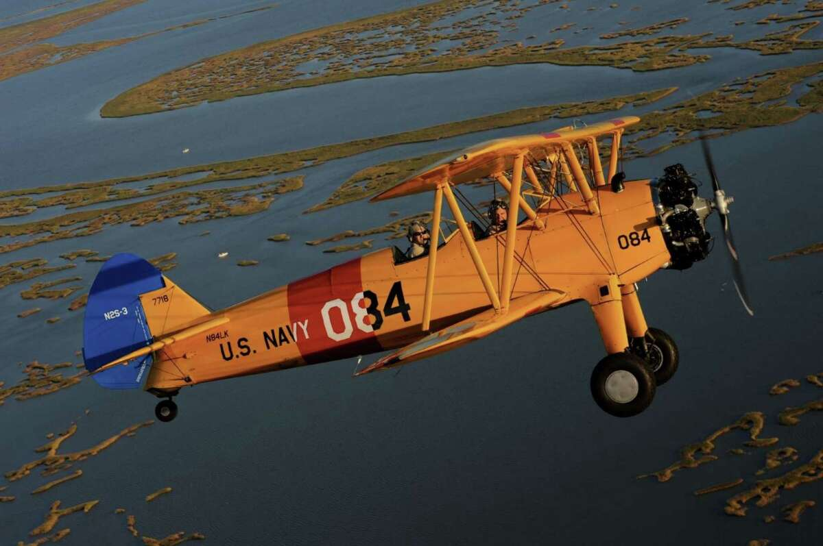 A PT-17 Stearman biplane is scheduled to be on display at the Wings Over Houston airshow.