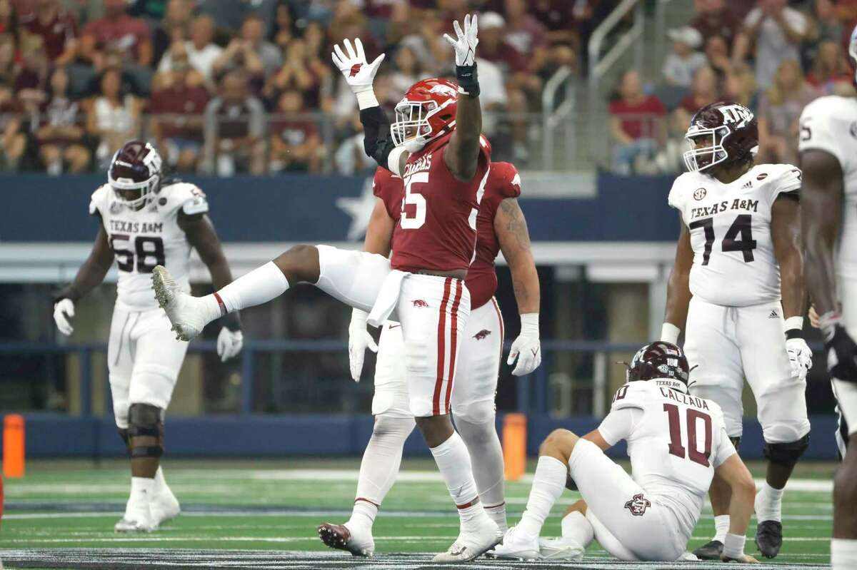 When Tre Williams and Arkansas sacked Zach Calzada and the Aggies, the loss hit A&M's national title hopes.