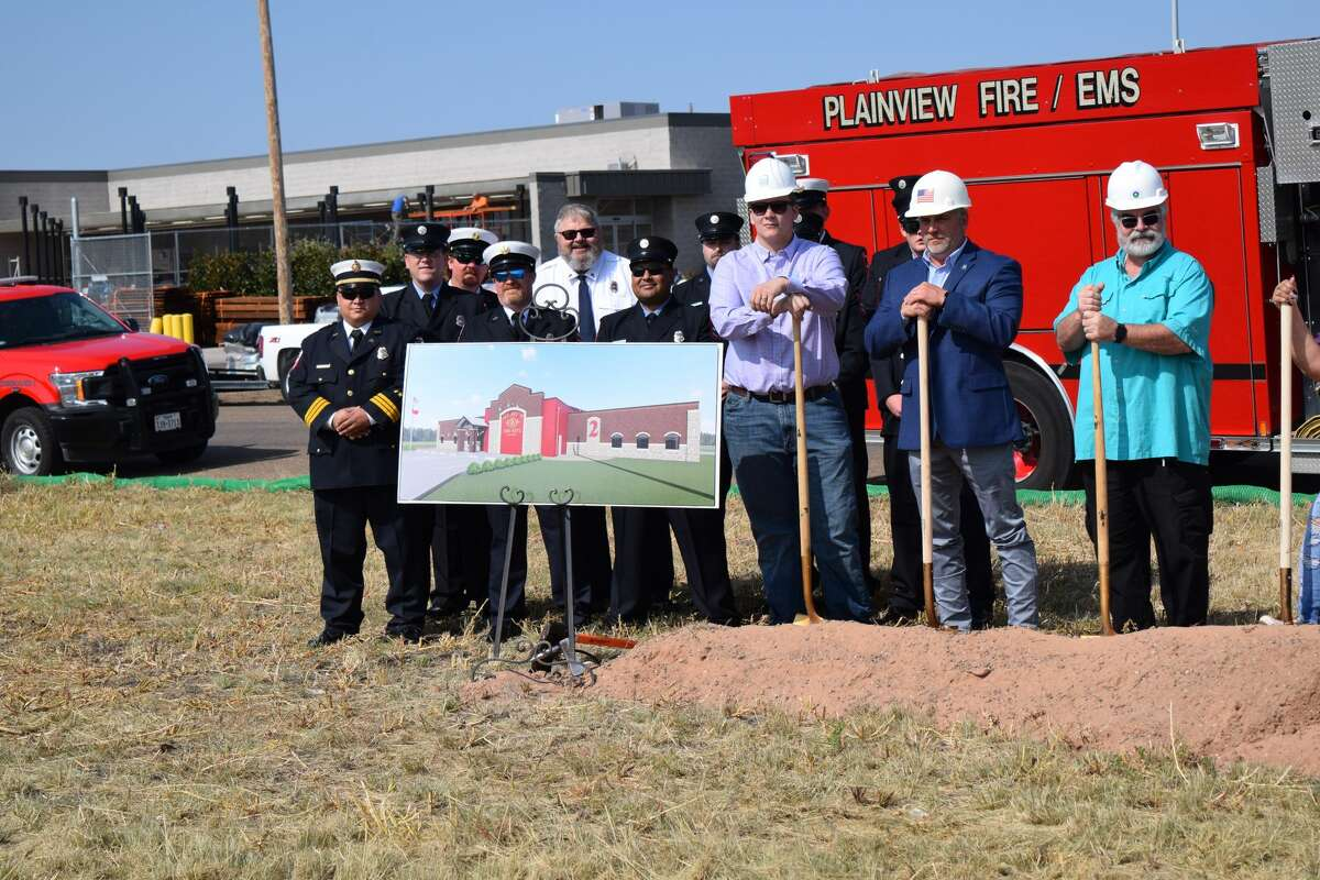 The Plainview Fire Department was joined by city leaders on Tuesday, Sept. 28, to break ground on a new fire station at the corner of Yonkers St. and Dimmitt Highway.