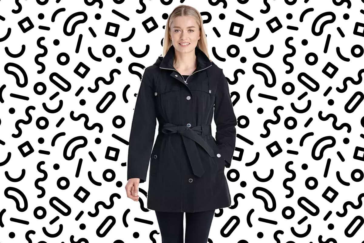 Women's London Fog Hooded Zip-Front Rain Coat, $84 with promo code GOSHOP20 at Kohls