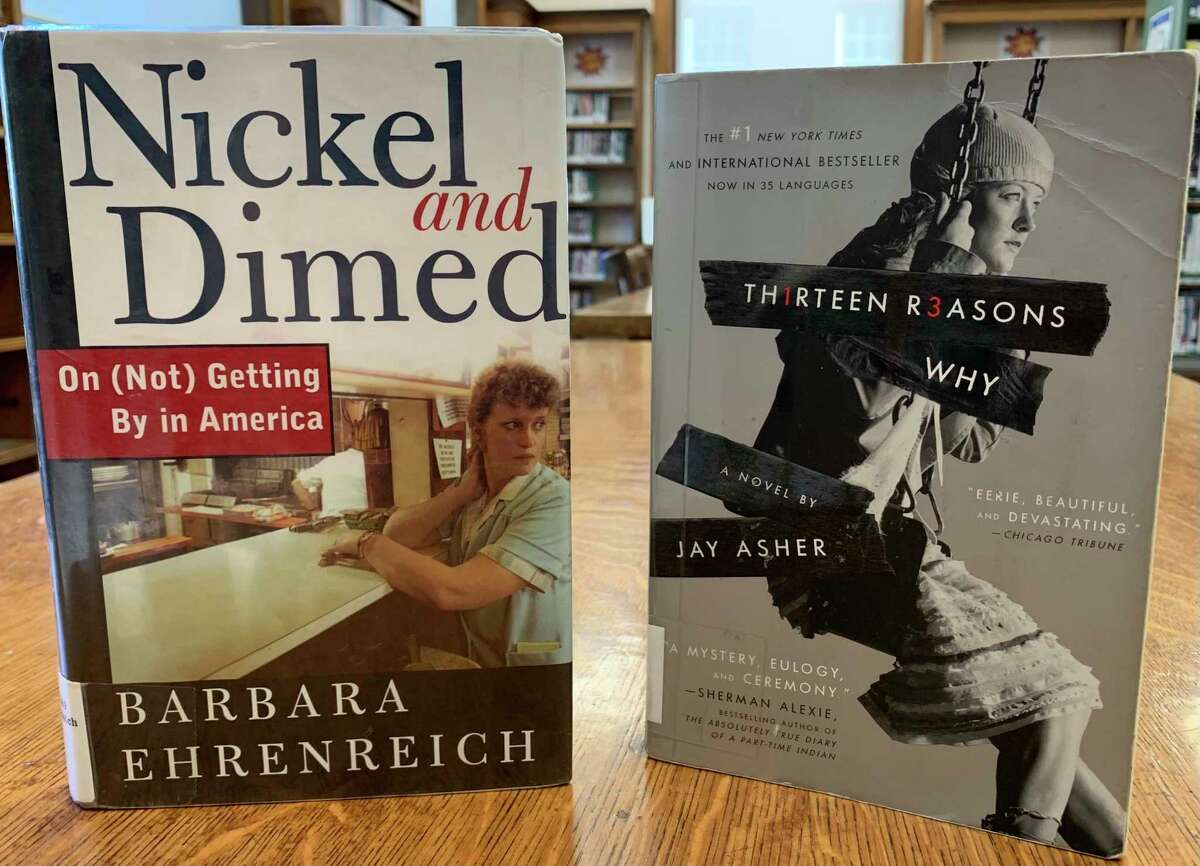 """""""Nickel and Dimed: On (Not) Getting By in America"""" by Barbara Ehrenreich is a nonfiction book in which a woman attempts to live on a low-wage, working a dead end job. This book was challenged in Kentucky, Pennsylvania and New Hampshire due to """"anti-religious issues,"""" """"biased portrayal of capitalism"""" and being harmful to minors. (Courtesy photo)"""