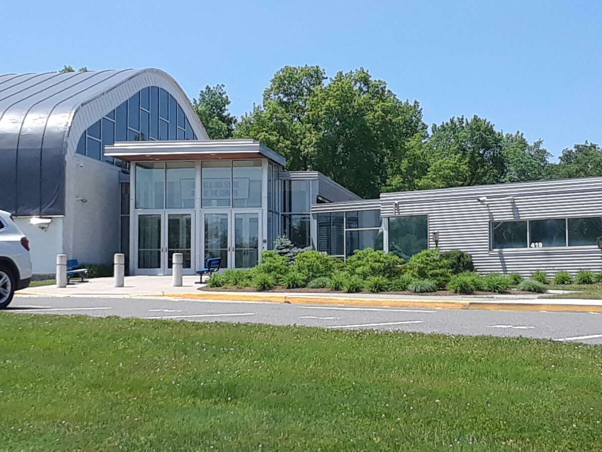 The idea of merging Litchfield Public Schools and the Region 6 school district is still being discussed. Pictured is Litchfield High School.
