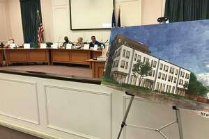 A visualization of the street view for a proposed development on Washington Ave. in West Haven at a Sept. 29, 2021 meeting of the West Haven Planning and Zoning Commission.