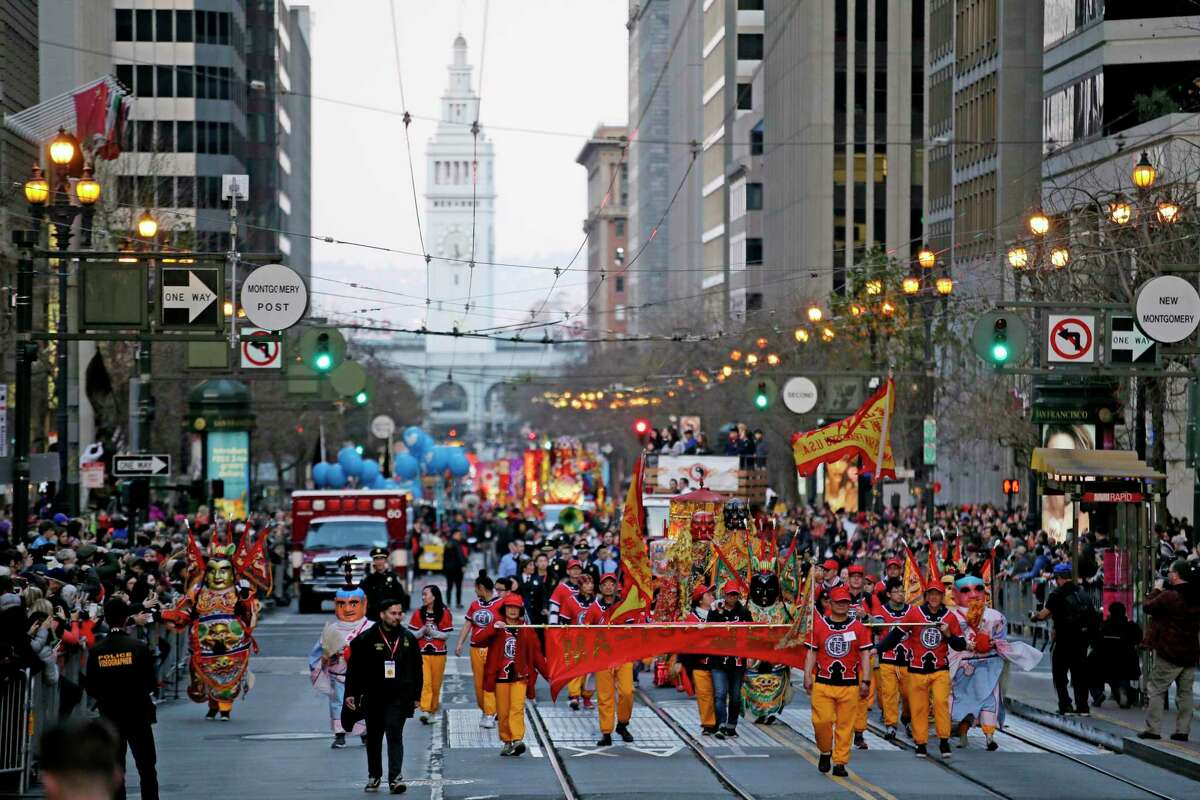 The most recent Chinese New Year Parade in February 2020.