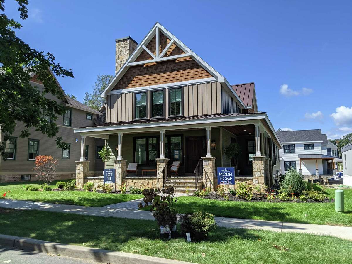 The entry in the Oak Ridge development by Beechwood Homes at 25 Oak Ridge Blvd., Saratoga Springs.