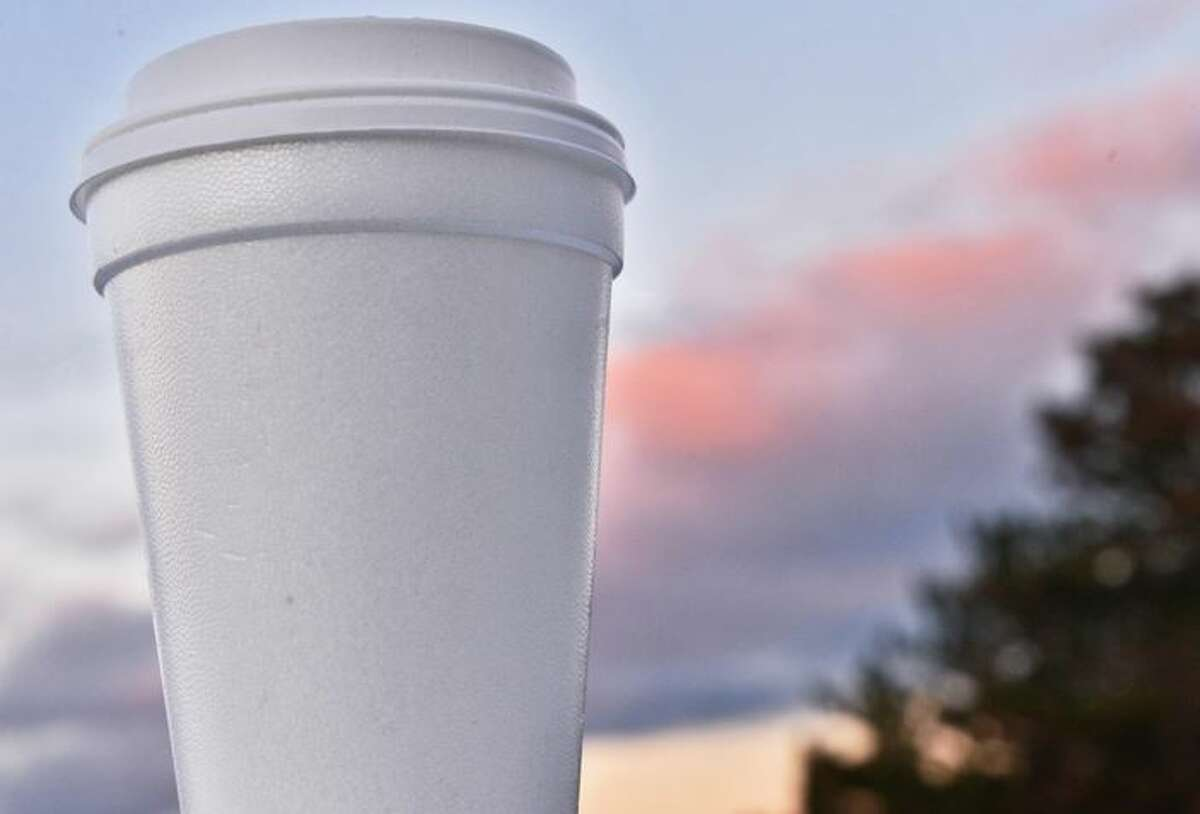 Styrofoam cups as well as food containers like clamshells will be banned in New York starting in January. They already are banned in some towns and counties.