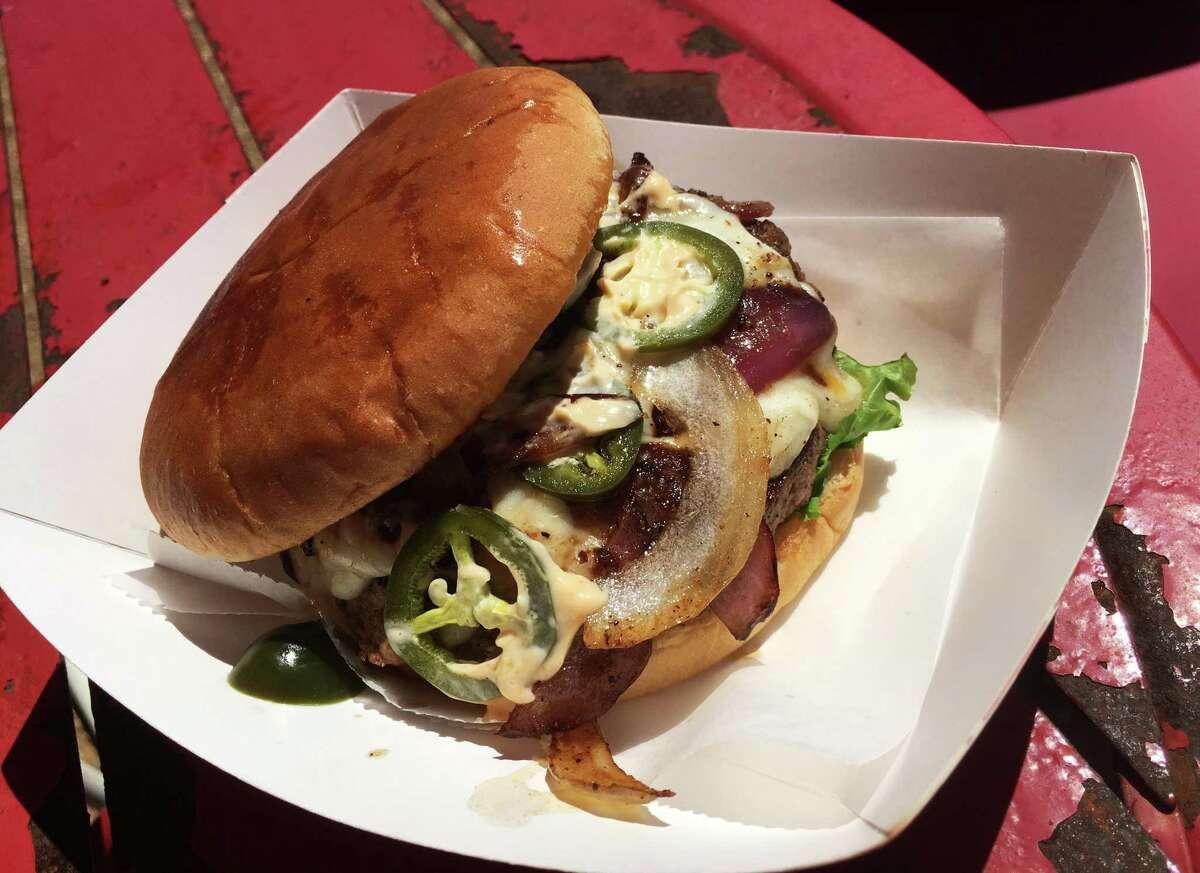 The Fire Melt Burger at Flat Rock Texas Artisan