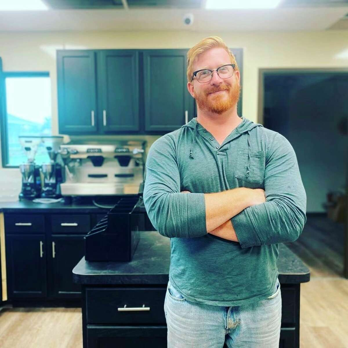Emma's Coffee House owner Brad Severance at what will become Emma's Pigeon location, which will be operated in conjunction with Laker's SAIL Academy. Students from the SAIL Academy will make up the new location's staff. (Emma's Coffee House/Courtesy Photo)