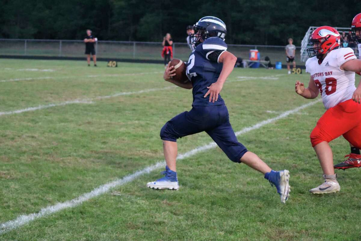 Brethren drops its fourth game of the year against Suttons Bay on Sept. 17. (Robert Myers/News Advocate)