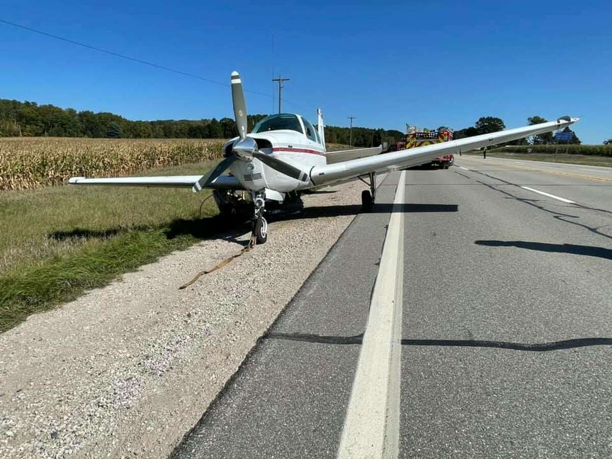 Multiple units worked to escort the plane from U.S. 10 to the Osceola County Road Commission gravel pit on 135th Avenue. No injuries were reported.