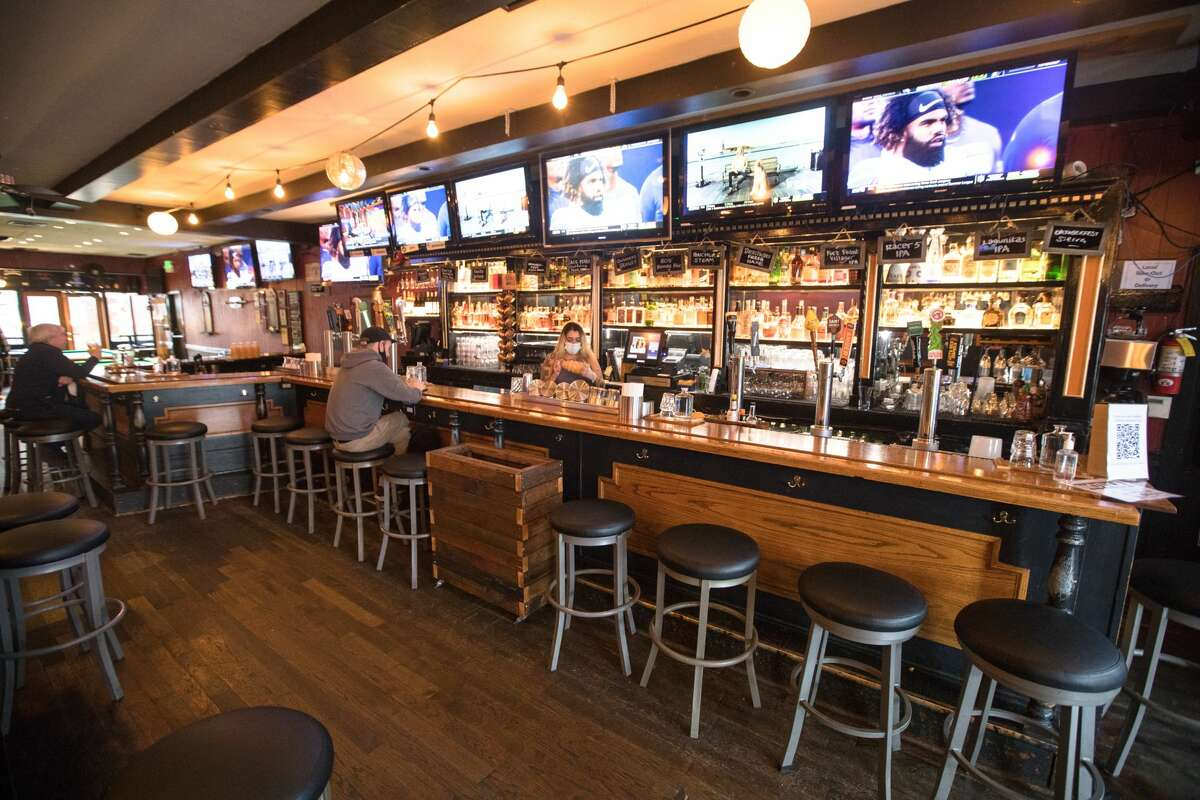 The interior of the Blackthorn in San Francisco, Calif., on Sept. 27, 2021.