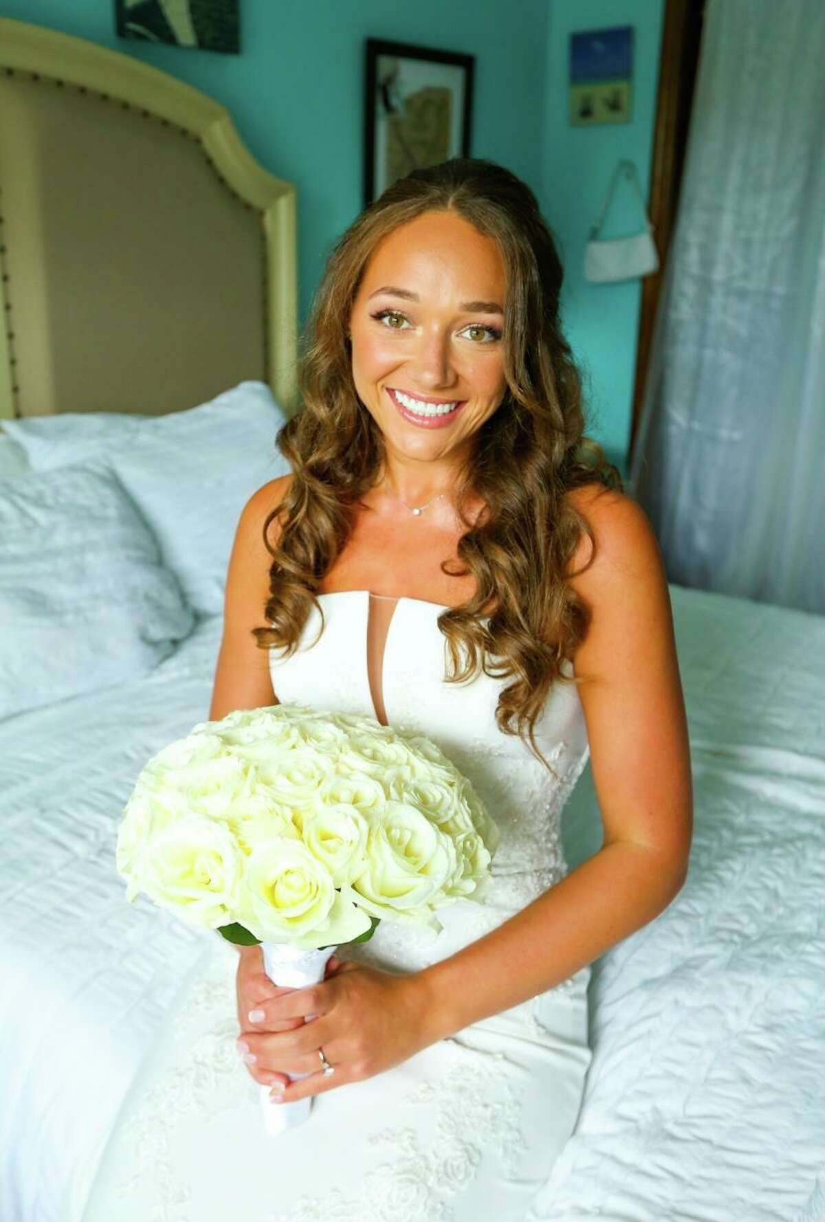 Nicole Vengalli on her wedding day, Aug. 20, 2021.