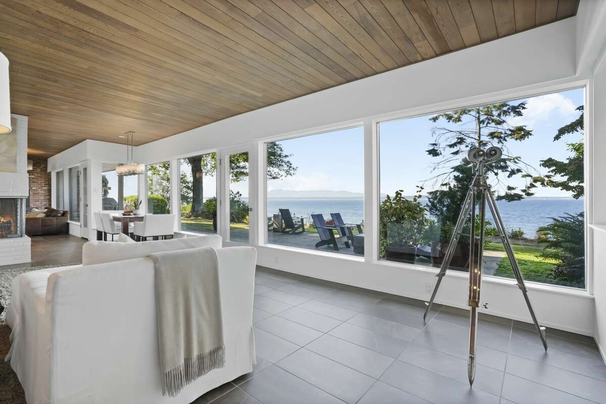 The view of Puget Sound is unobstructed.