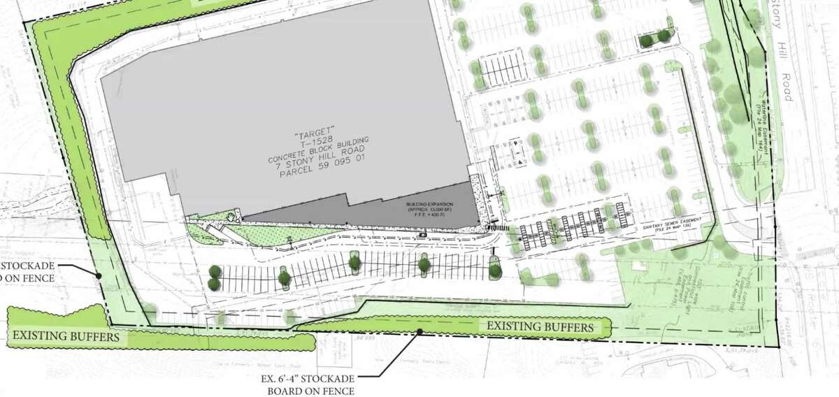 Site plan rendering for the proposed Target store expansion project in Bethel, Conn.