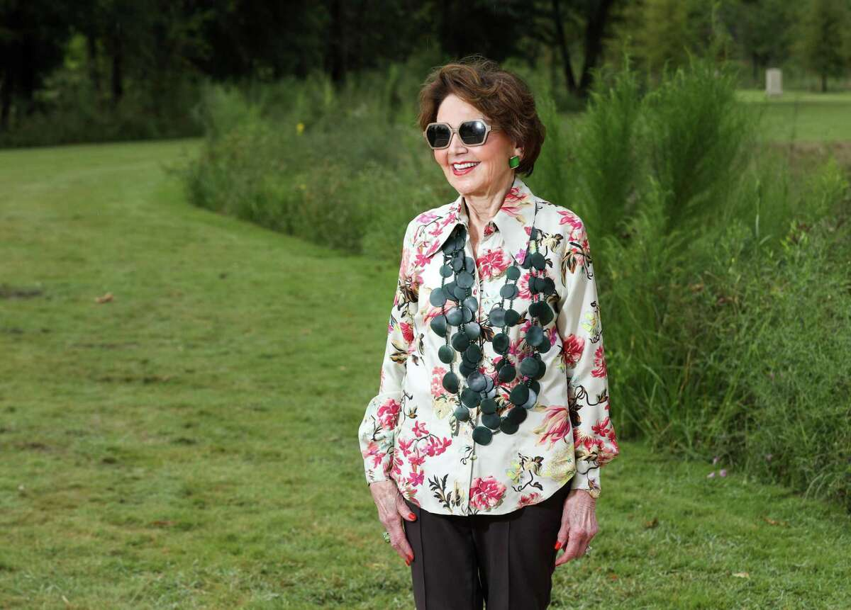Cyvia Wolff poses for a portrait at Memorial Park. Her family's foundation donated $10 million to the park.