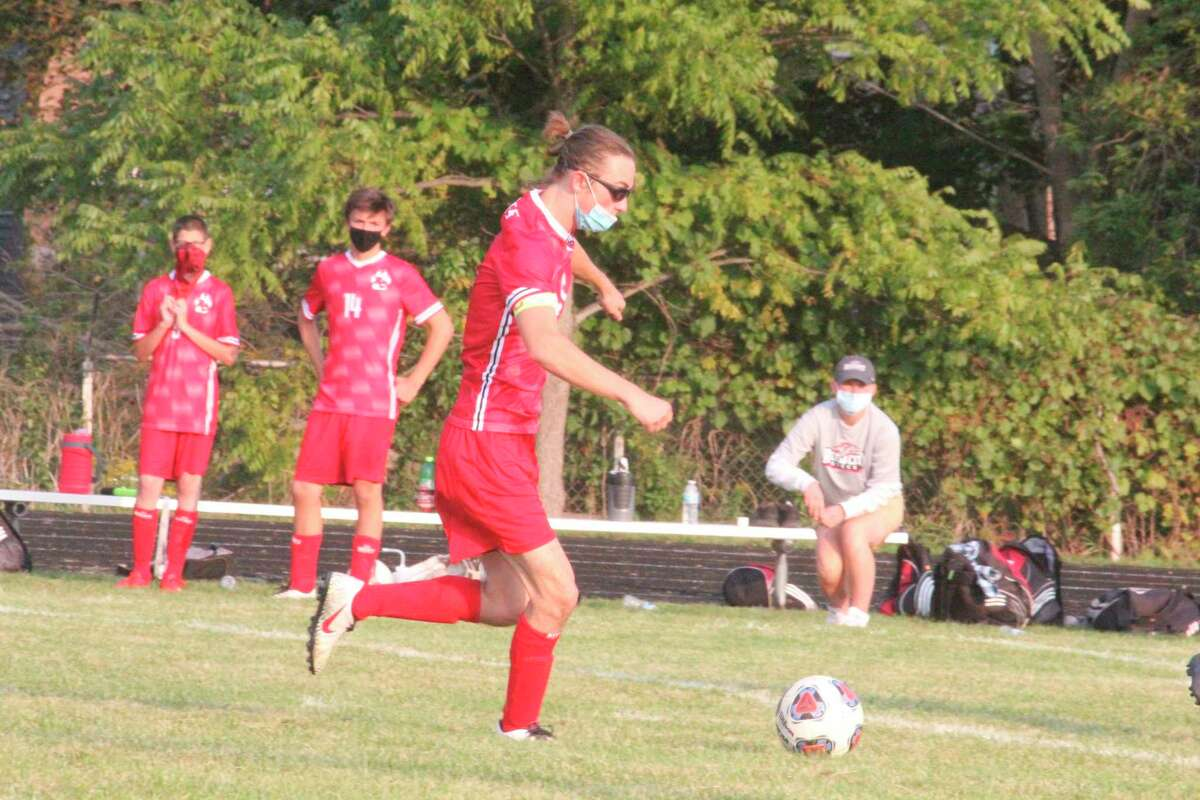 Reed City's Aiden Mieras continues to have a strong season for the soccer program. (Pioneer file photo)