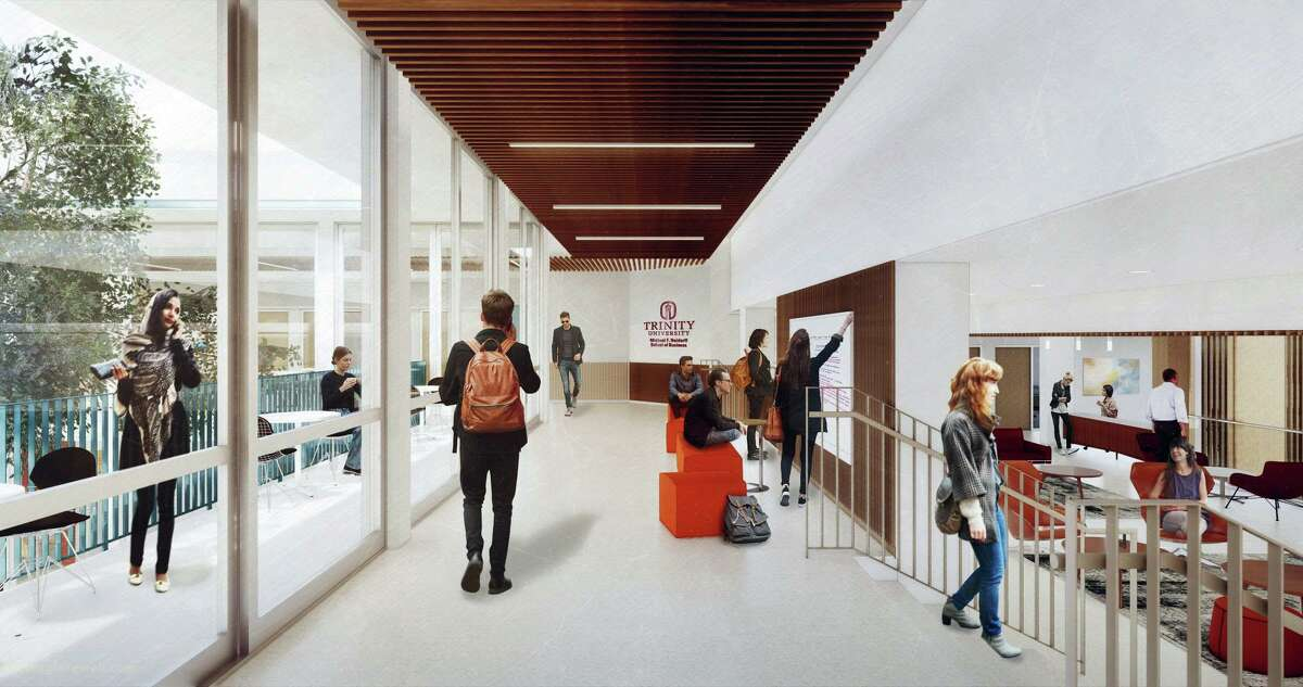 The $25 million donation of Michael Neidorff, a Trinity University board member, is the largest in the school's history. The university will name its business school after him, to be housed in the new Chapman Center, shown in this rendering.