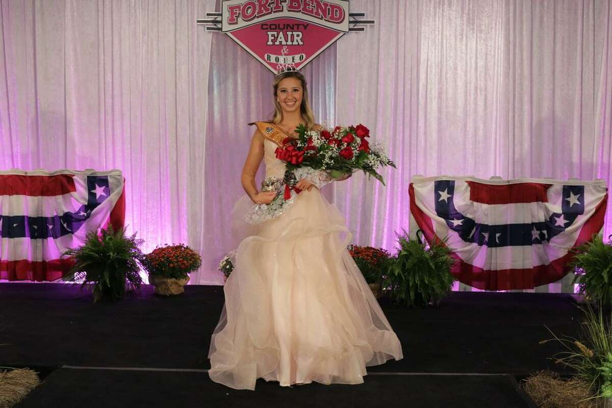 Elkins High School sophomore Meadow Votis is named the 2021 Fort Bend County Fair Queen on Friday, Sept. 24.