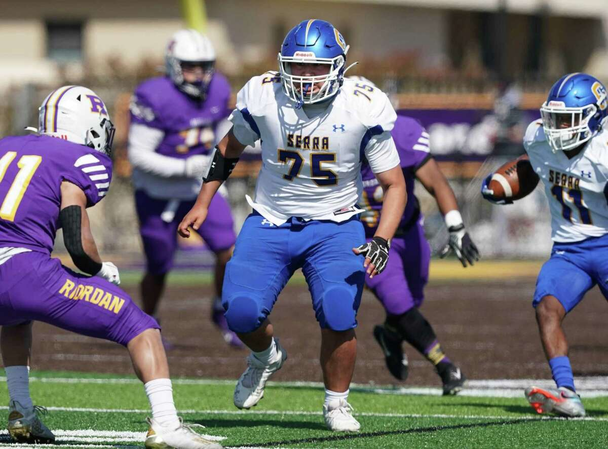 Timo Poloka is one of the offensive line mainstays forNo.3 Serra.