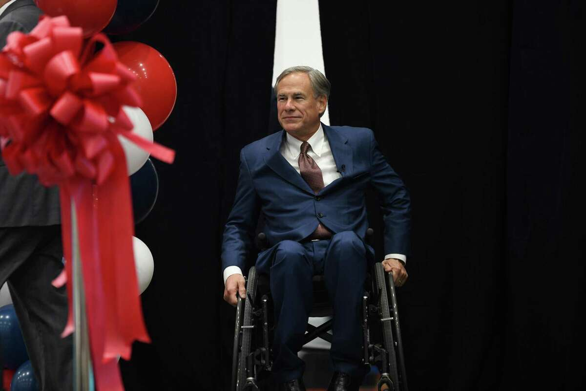 Gov. Greg Abbott recognizes Laredo as a integral component of Texas and U.S. trade during the grand opening of the Mission Produce Mega Center on Wednesday, Sept. 29, 2021.