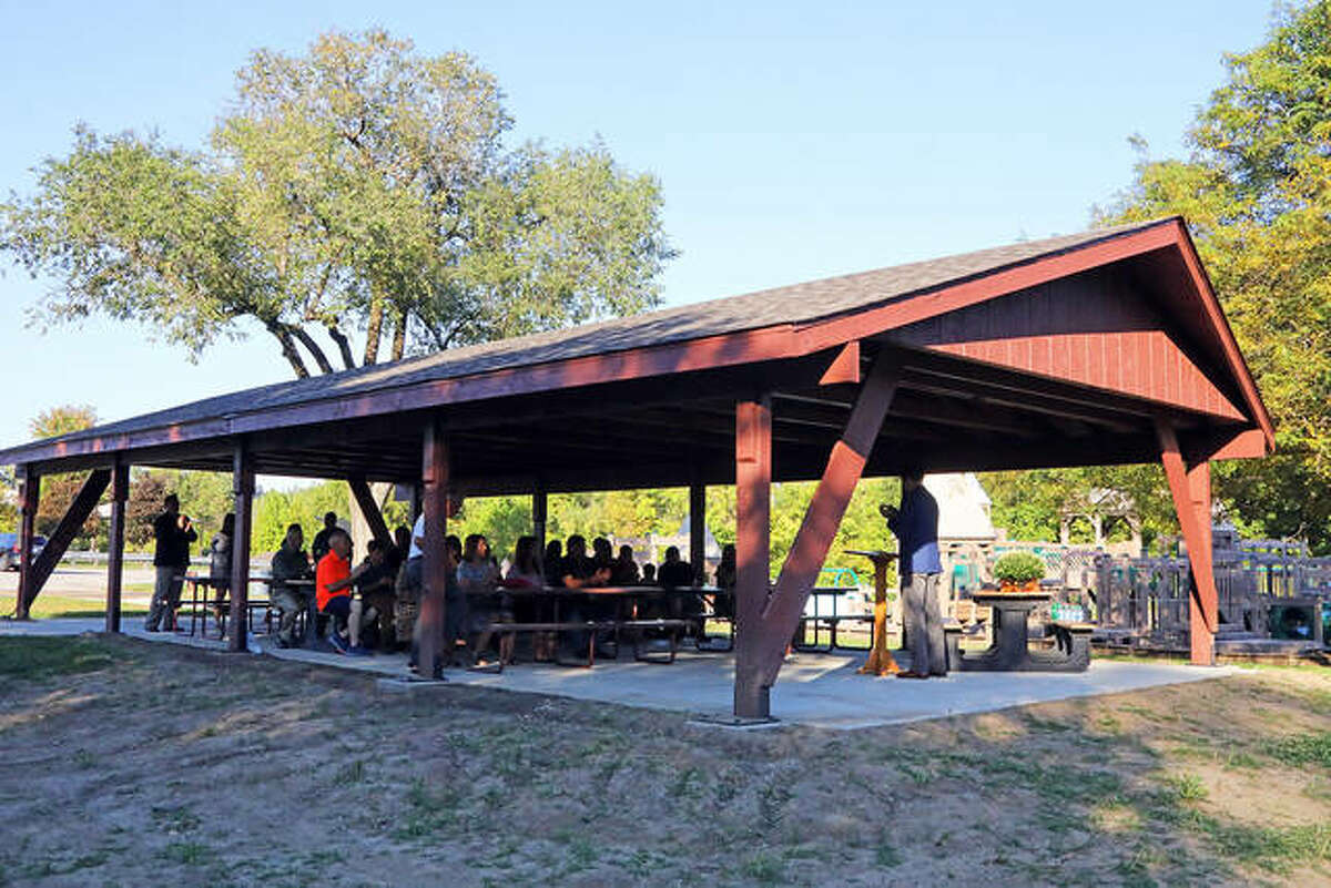This summer, pavilion #6 was renovated and expanded prior to the dedication to Mrs. Speciale. The Edwardsville Community Foundation assisted with the project via the Edwardsville Township Community Park Fund.