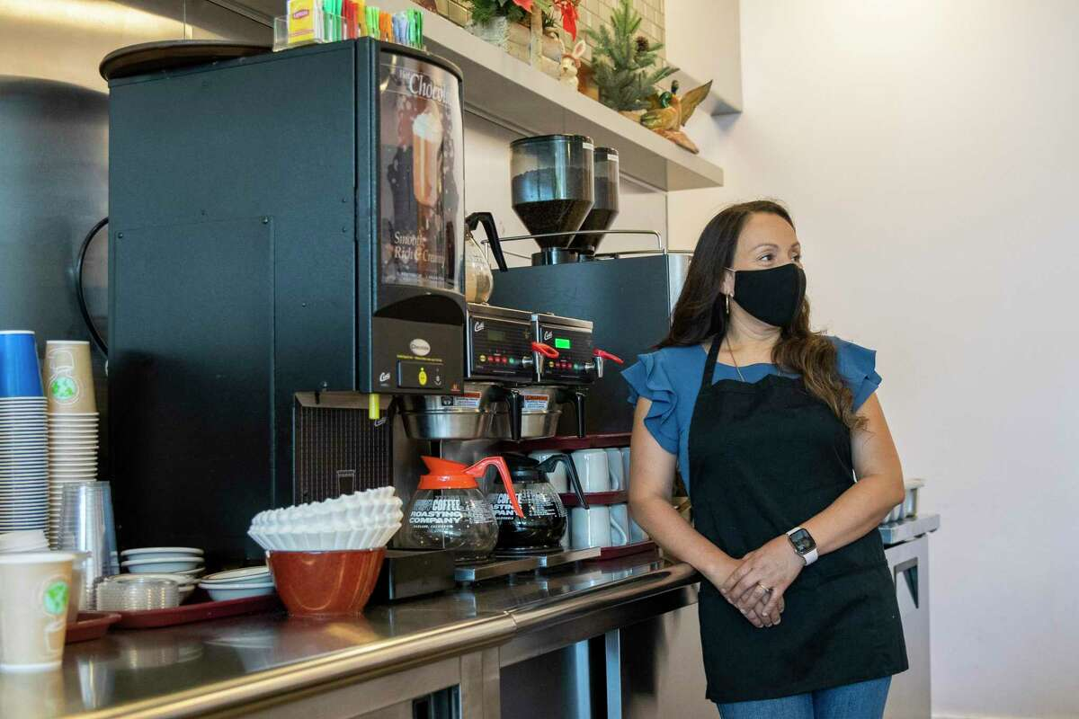 Sara Segovia, at Westlake Coffee Shop in Daly City, said she was able to renegotiate her lease and avoid eviction.