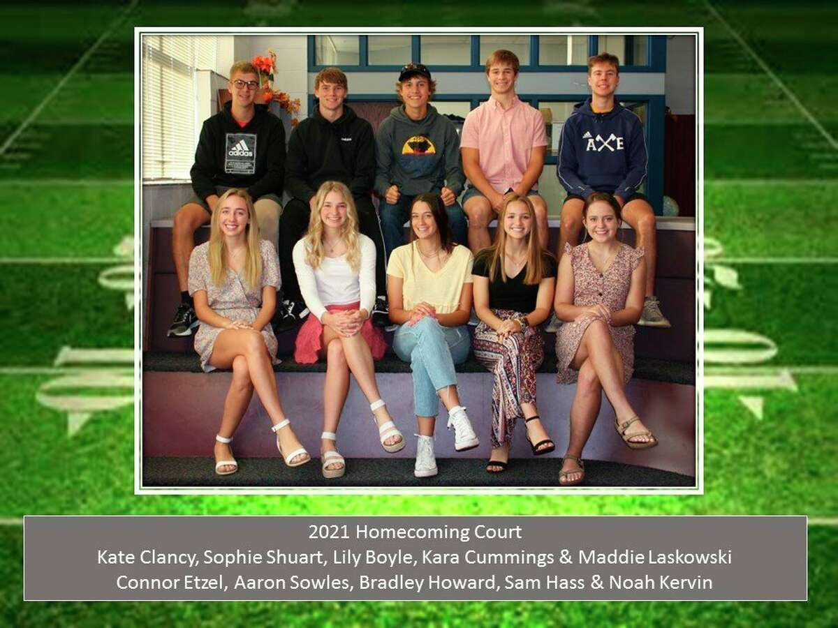 This year's homecoming court was Kate Clancy, Sophie Shuart, Lily Boyle, Kara Cummings, Maddie Laskowski, Connor Etzel, Aaron Sowles, Bradley Howard, Sam Hass and Noah Kervin. (Courtesy Photo)