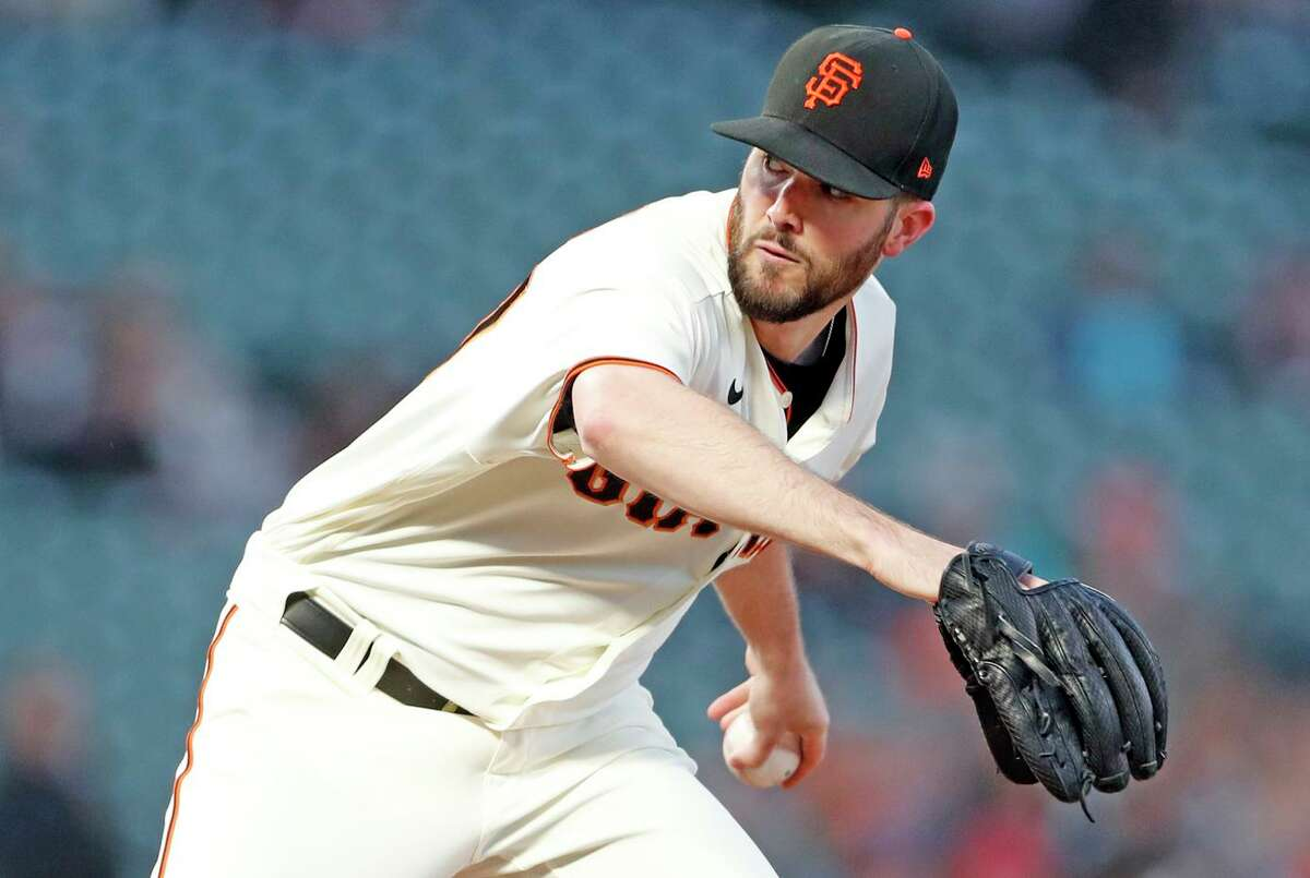 San Francisco Giants' Alex Wood delivers in 1st inning against Arizona Diamondbacks during MLB game at Oracle Park in San Francisco, Calif., on Tuesday, September 29, 2021.