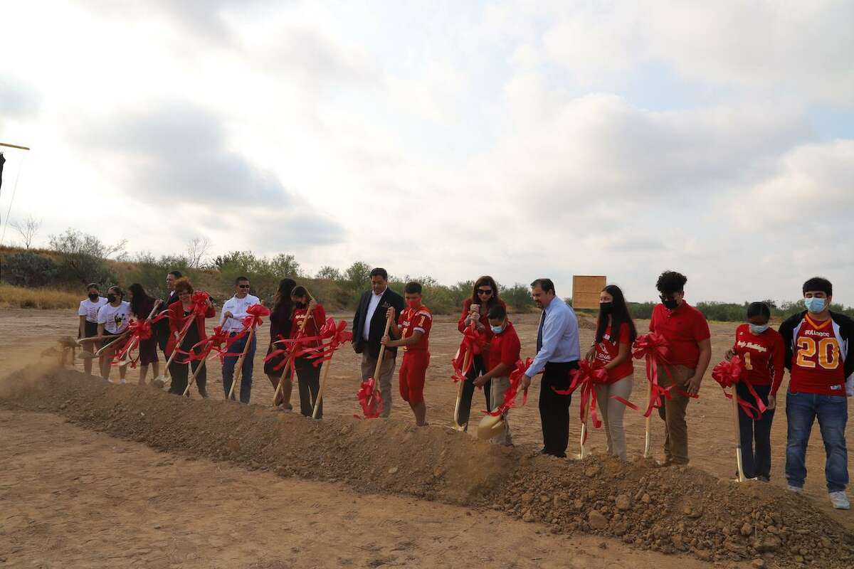 The LISD Board of Trustees, students from LISD and other guests helped break ground for Cigarroa's new middle school on Wednesday, Sept. 29, 2021.