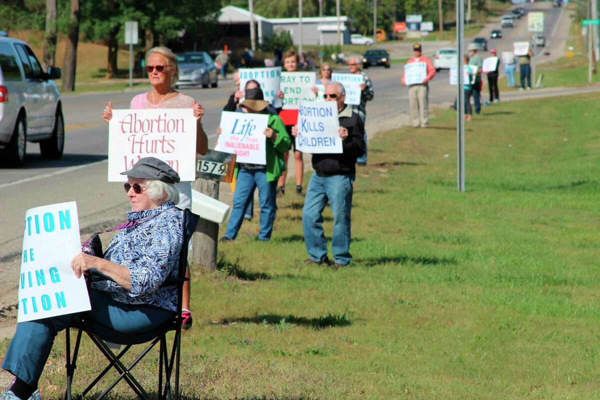 Life Chain, a national vigil, has been held for years in Manistee and Benzie (pictured) counties. It will be held on Oct. 3along the west side of U.S. 31 starting at River Street in Manistee and alongU.S. 31beginning at the M-115 intersectionin Benzonia. (File Photo)