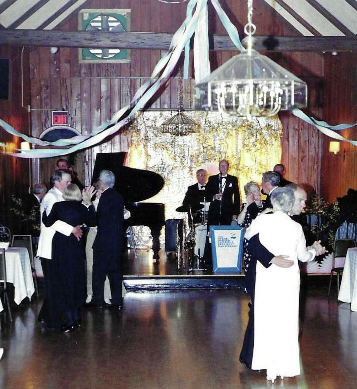 Dancing cheek to cheek at the Madison Winter Club