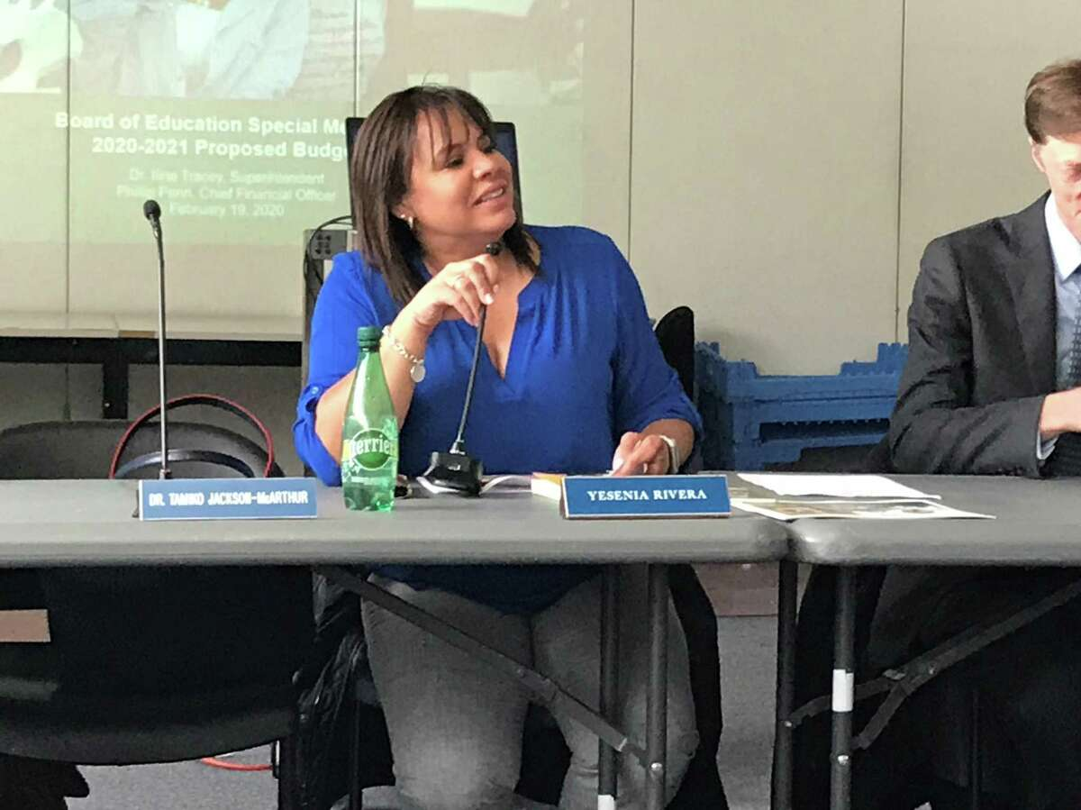 New Haven Board of Education President Yesenia Rivera, 2020.