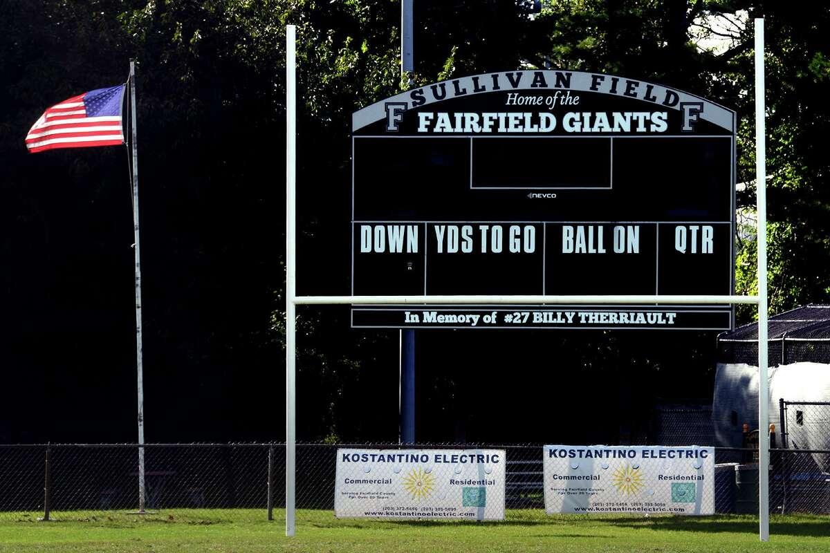 Sullivan Field in Fairfield on Wednesday.