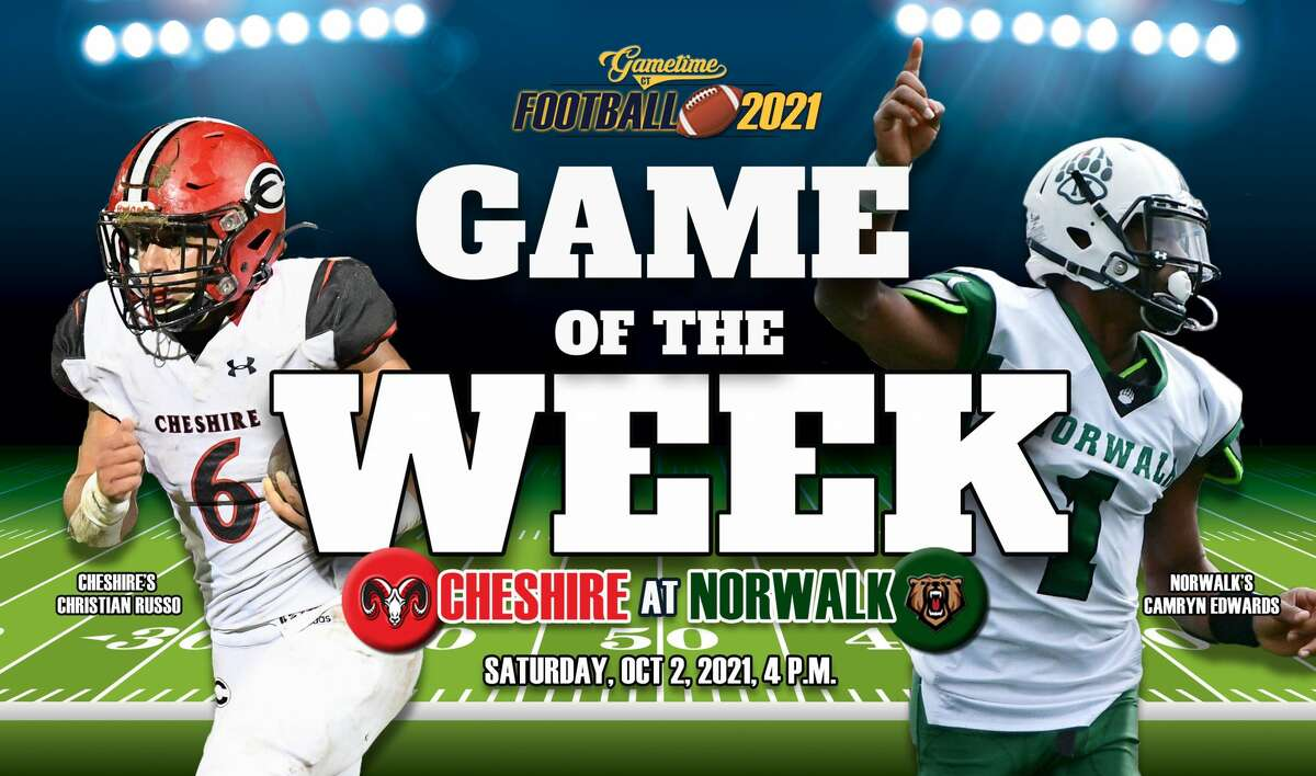 Cheshire's Christian Russo (left) and Norwalk's Camryn Edwards (right).