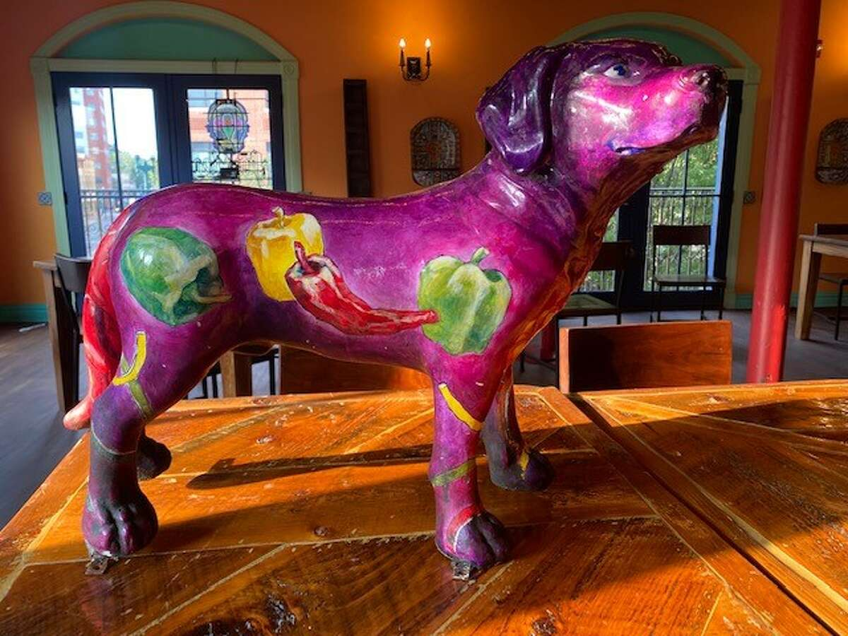 Radio Chili Dog, a sculpture created 13 years ago for the former Hudson location of the restaurant Mexican Radio, will be raffled off at the end of October as part of the charity component of the Sundays on the 2nd Floor tag sale and market at Mexican Radio in Schenectady.