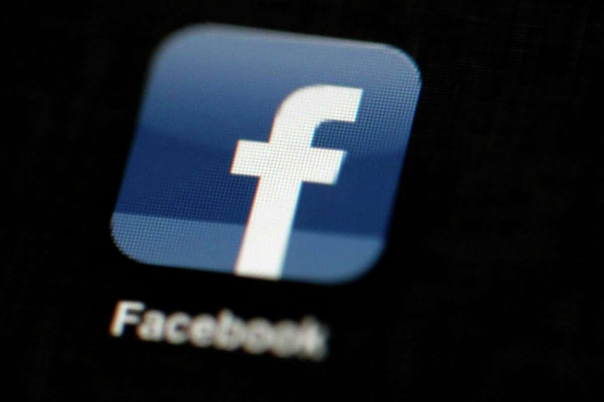 The Facebook logo, in a file photo.