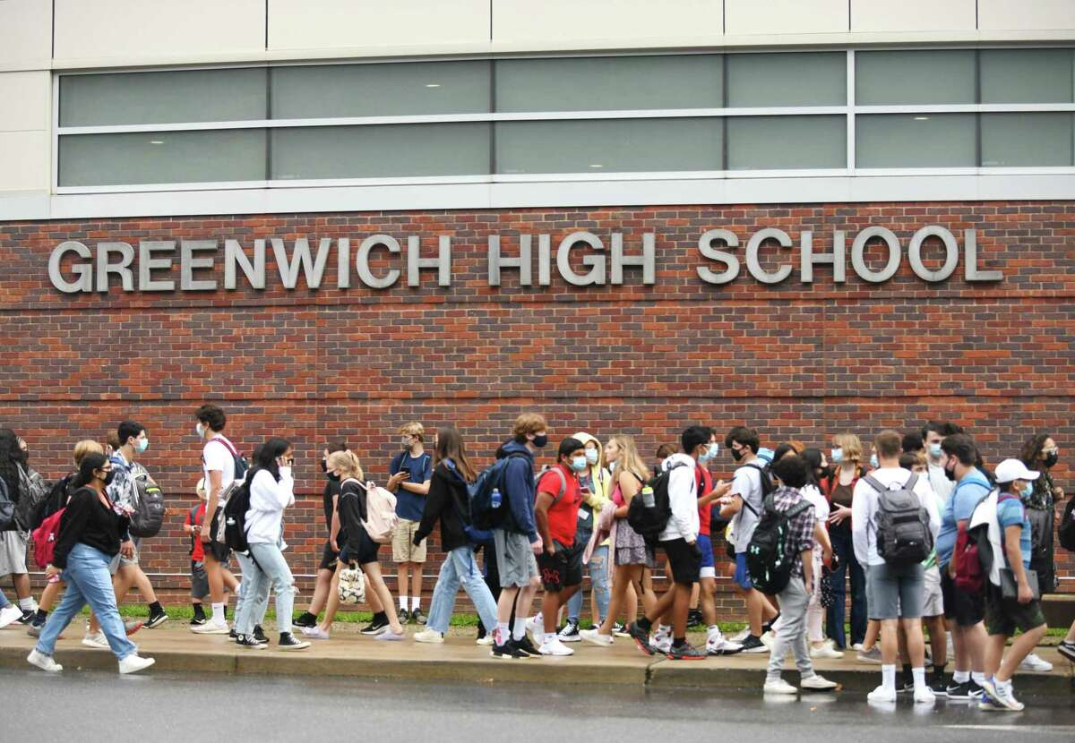 Greenwich High School in Greenwich, Conn. Wednesday, Sept. 1, 2021.