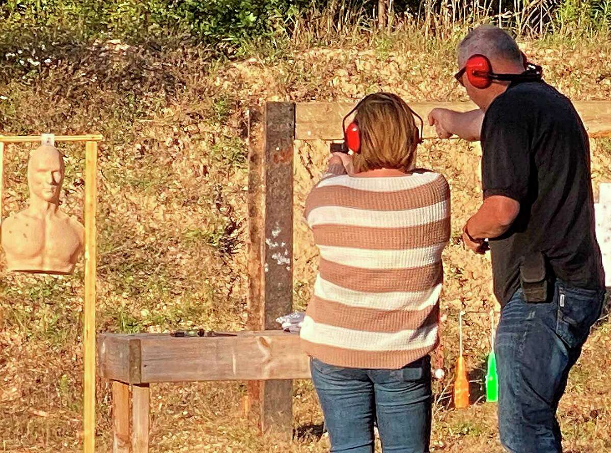 Almost 50 women and girls turned out forthe Ladies Night event at the Thumb Sportsman's Club gun range on Wednesday evening. (Mark Birdsall/Huron Daily Tribune)