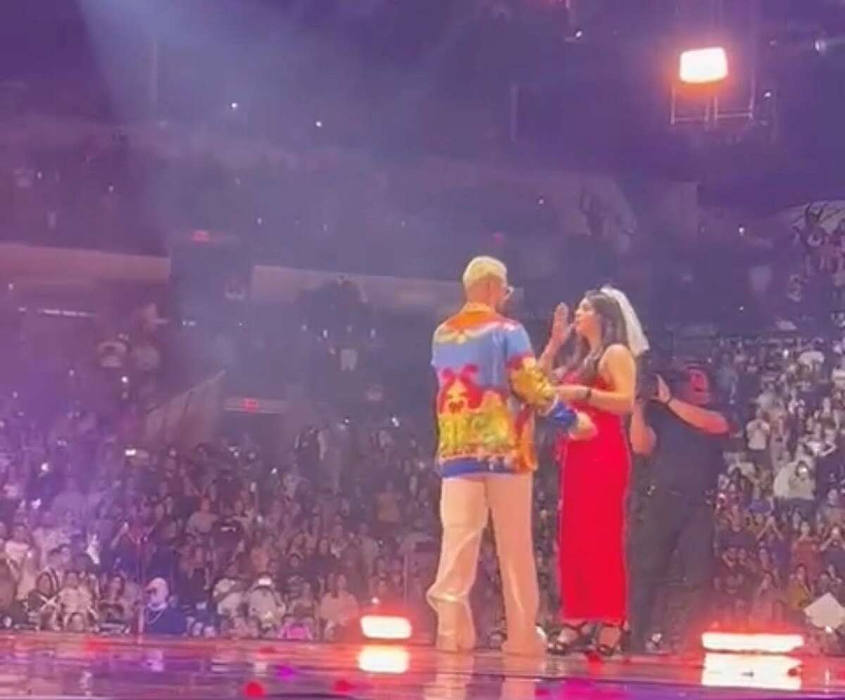 Faby Ruvalcaba, 27, celebrated her bachelorette party at the Maluma concert and ended up dancing on stage with the singer.