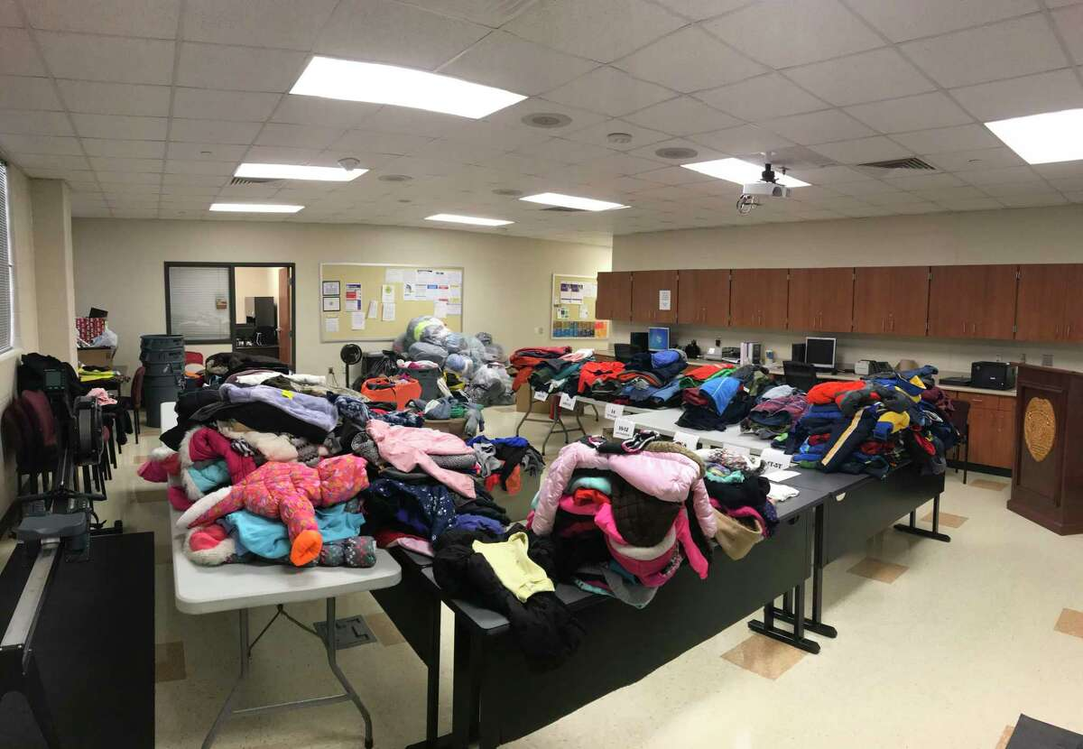 Last year's Coat's for Kids Drive, organized by the Conroe Independent School District Police Department, collected around 700 coats for district students in need. This year's drive is set to start on Oct. 4.