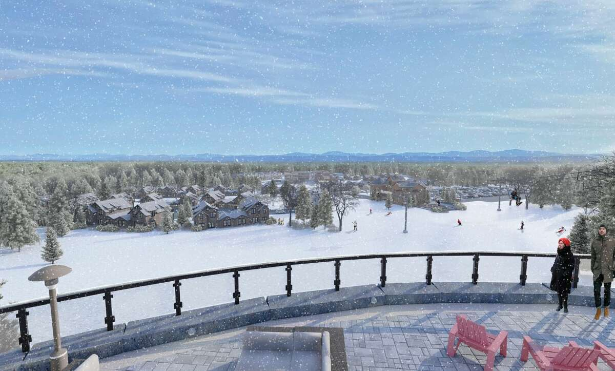 West Mountain is planning a $50 million resport on a parcel of land it owns at the northwest base of the mountain. This is a rendering of what it would look like when viewed from the hotel.