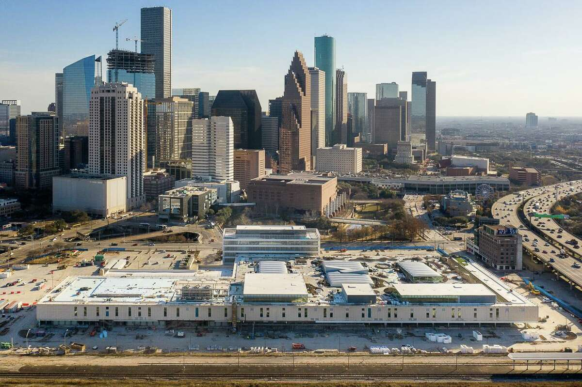 POST Houston is under construction and slated for a fall opening, photographed in March of 2021.