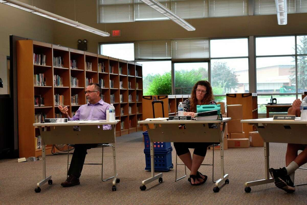 At a special meeting on Sept. 29, the Morley Stanwood board of education approved the hire of KelseyZemaitisas the school's new COVID-19 tracking and tracing secretary. (Pioneer photo/Olivia Fellows)
