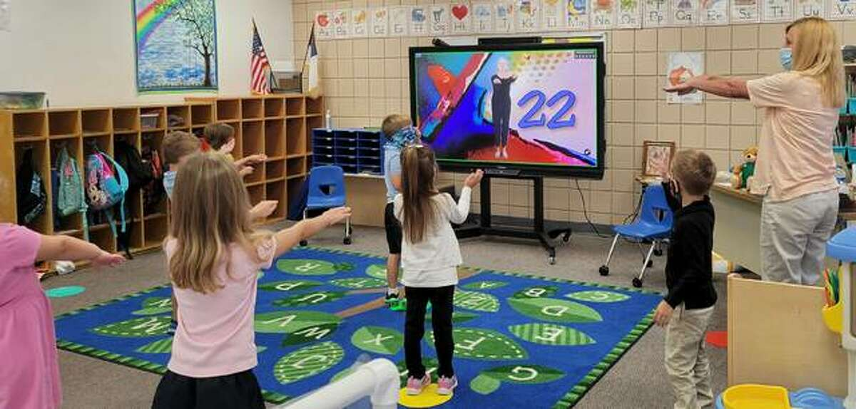 Students in grades K-8 at Zion Lutheran School in Bethalto are finding many benefits in their new interactive displays from Promethean.