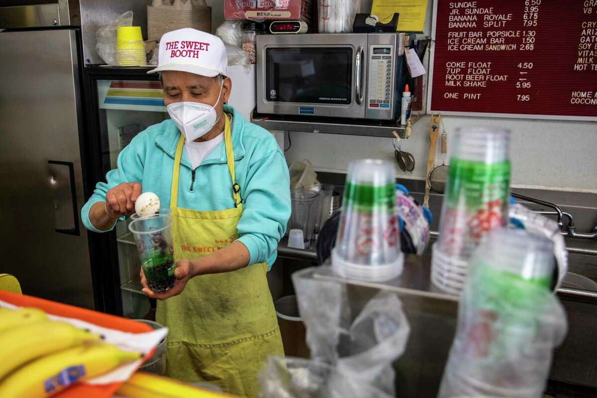 Calvin Tong, owner of the Sweet Booth in Pacific Renaissance Plaza in Oakland, is retiring and hopes to sell the business he has owned for decades.